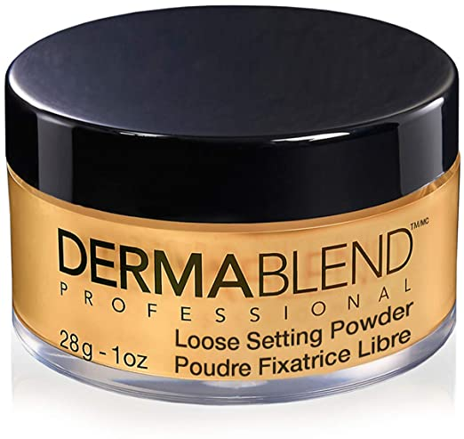 Dermablend Loose Setting powder, Face Powder Makeup for Light, Medium and Tan Skin Tones, Mattifying Finish and Shine Control