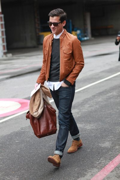 Classic Brown Leather Bags and Jackets