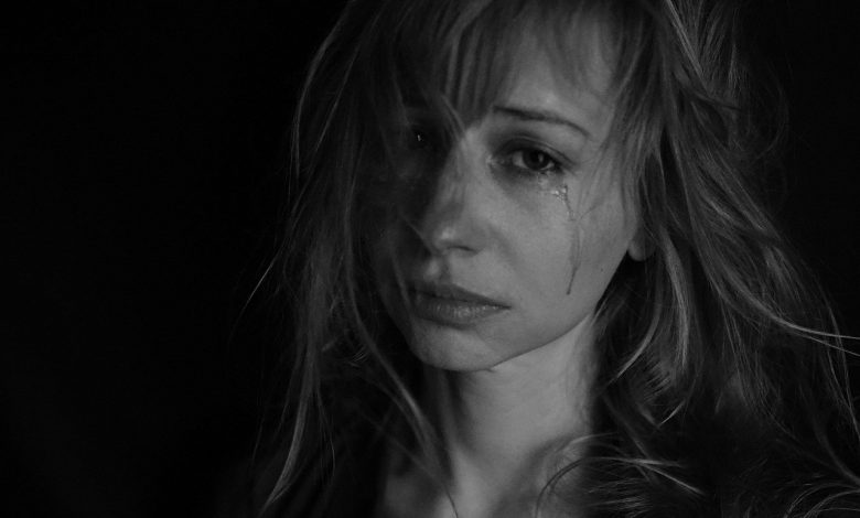 Sad woman stress