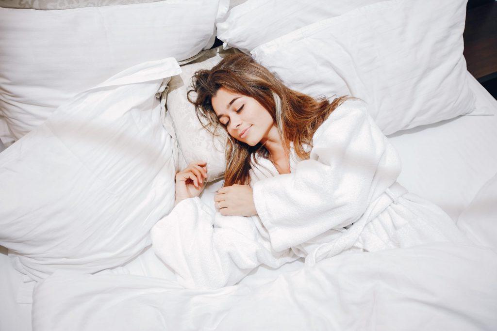 girl is having good sleep