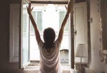 Girl morning walk up energise